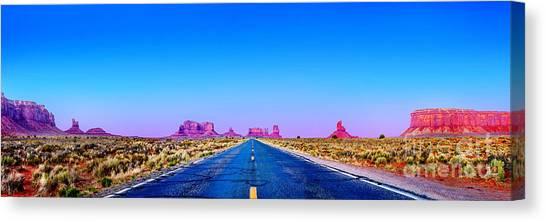 Tetons Canvas Print - Long Road To Ruin by Az Jackson