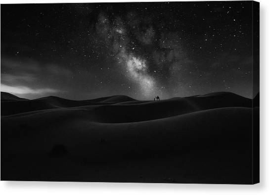 Dunes Canvas Print - Road To Stars by Jorge Ruiz Dueso