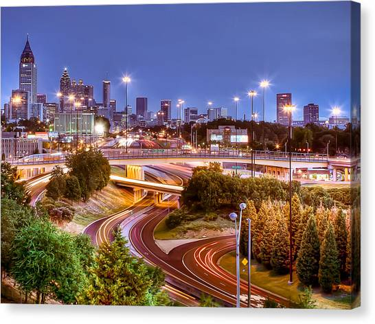 Road To The City Canvas Print