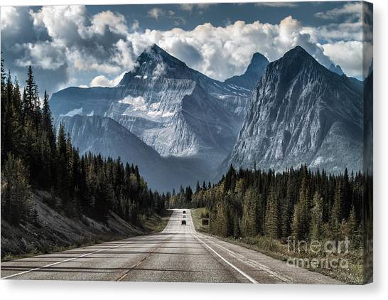 Destinations Canvas Print - Road To The Great Mountain by Yanliang Tao