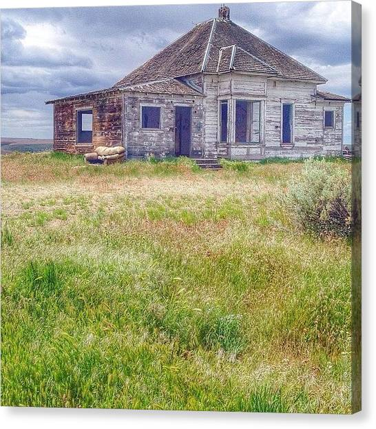 Vacations Canvas Print - Road Trip To Eastern Oregon. We Drove by Blenda Studio