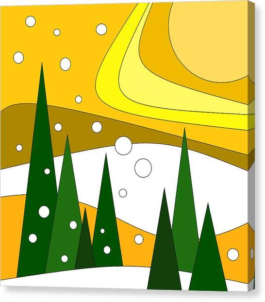 Road Trip Vi - Snow And Sun Canvas Print