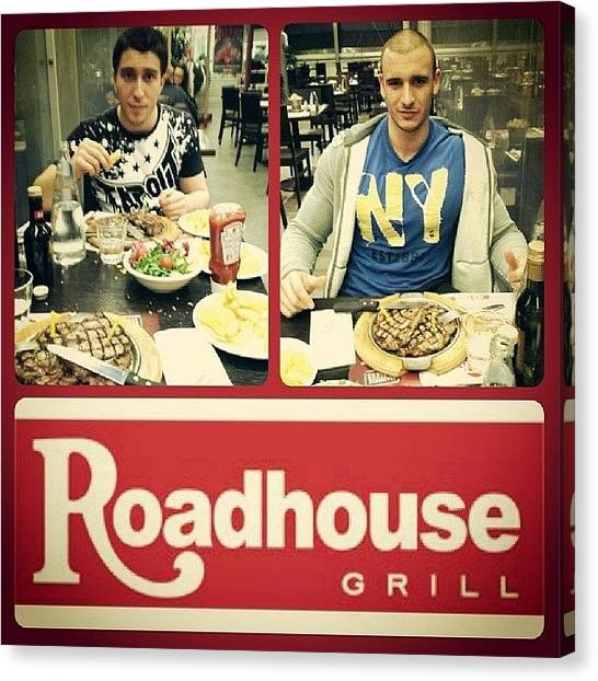 Ribeye Canvas Print - #roadhousegrill #milano #bbq #best by Piero Pucali