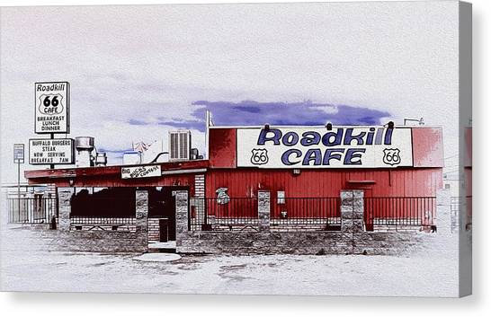 Roadkill Cafe Canvas Print