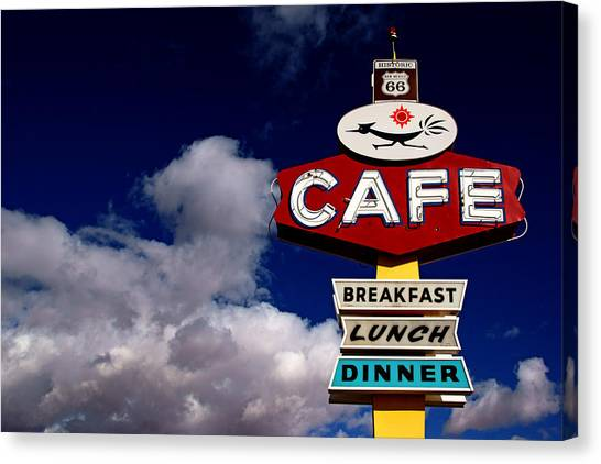 Roadrunner Cafe Canvas Print