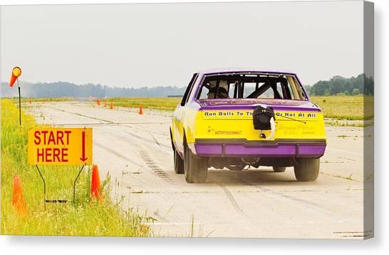 Roadrunner In The Start. Canvas Print