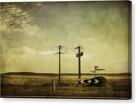 Street Signs Canvas Print - Roaming by Andrew Paranavitana