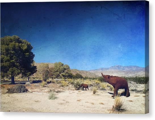 Installation Art Canvas Print - Roaming by Laurie Search