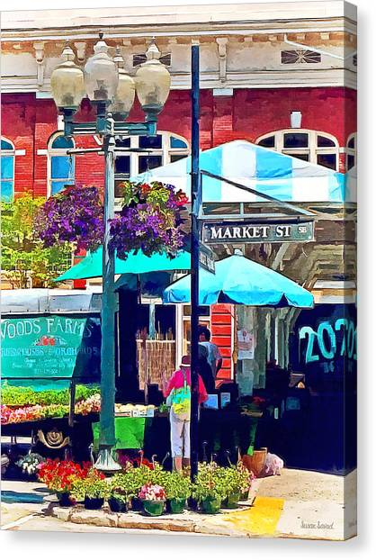 Roanoke Va - Market Street Canvas Print by Susan Savad