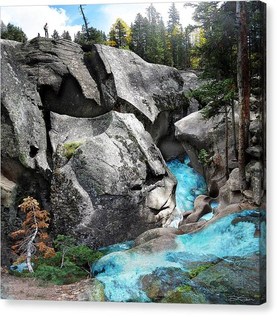 Roaring Fork Canvas Print by Ric Soulen