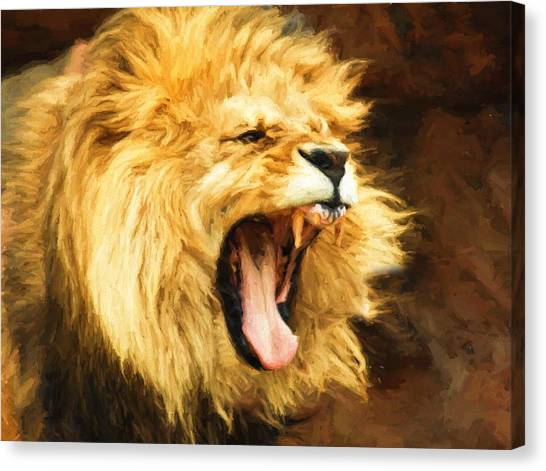 Roaring Lion Canvas Print