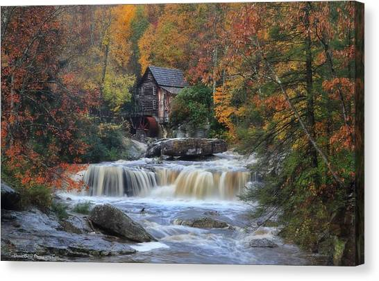 Roaring Past The Mill Canvas Print