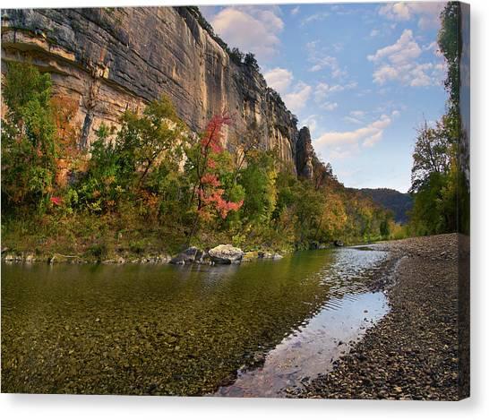 Arkansas Canvas Print - Roark Bluffs, Buffalo National River by Tim Fitzharris