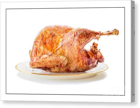 Turkey Dinner Canvas Print - Roasted Turkey Dinner by Edward Fielding