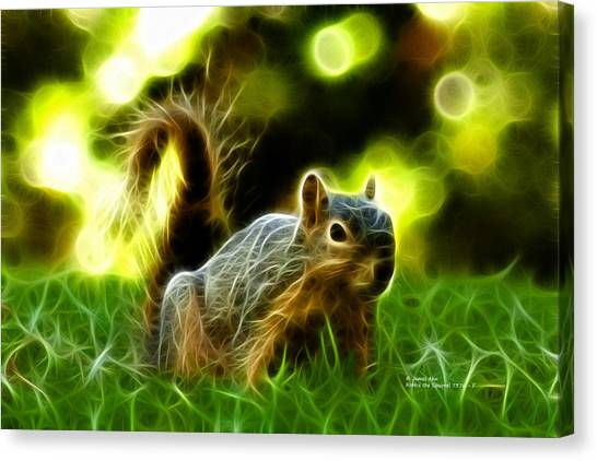 Robbie The Squirrel - 7376 - F Canvas Print