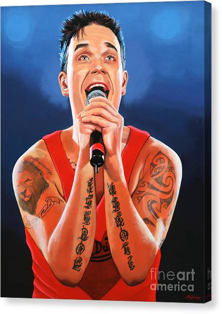 Candy Canvas Print - Robbie Williams Painting by Paul Meijering