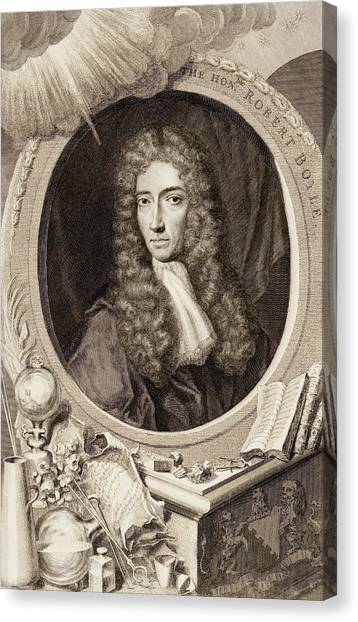 Flame Test Canvas Print - Robert Boyle by Gregory Tobias/chemical Heritage Foundation