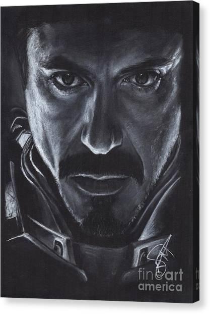 Robert Downey Jr.  Canvas Print by Rosalinda Markle