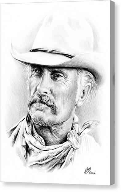 Texas Rangers Canvas Print - Robert Duvall by Andrew Read