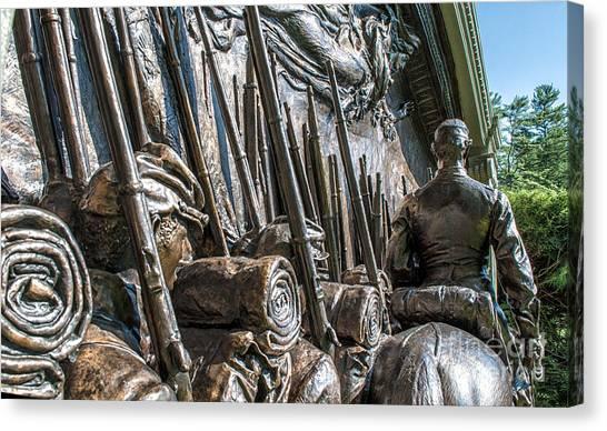 Volunteer Infantry Canvas Print - Robert Gould Shaw Memorial by Scott Thorp