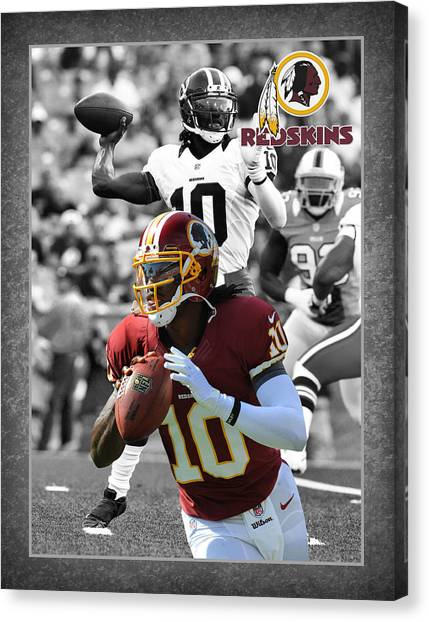 Washington Redskins Canvas Print - Robert Griffin Rgiii Redskins by Joe Hamilton
