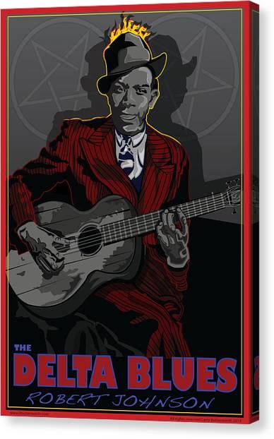 Robert Johnson Delta Blues Canvas Print by Larry Butterworth