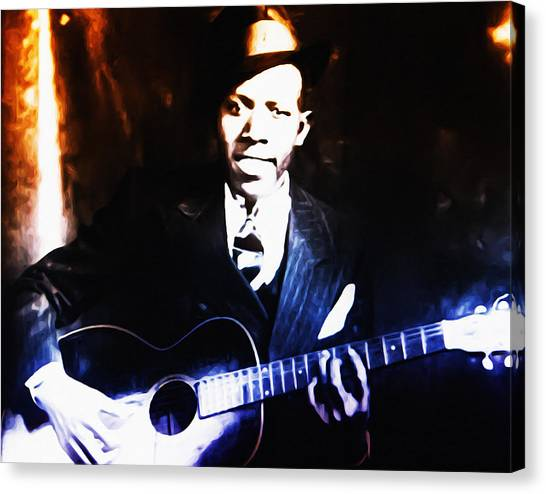 Robert Johnson - King Of The Blues Canvas Print