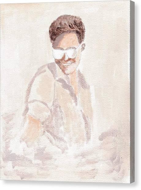 Robert Pattinson 182 Canvas Print by Audrey Pollitt