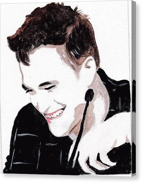 Robert Pattinson 184 Canvas Print by Audrey Pollitt