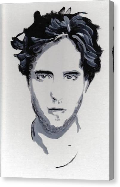 Robert Pattinson 89 Canvas Print by Audrey Pollitt