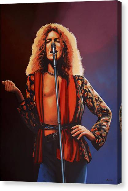 Robert Plant Canvas Print - Robert Plant 2 by Paul Meijering