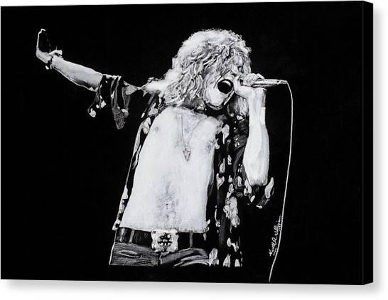 Led Zepplin Canvas Print - Robert Plant by Kenneth  Williams