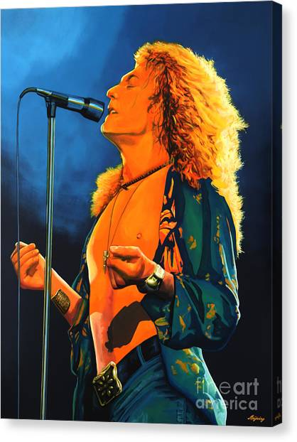 Concerts Canvas Print - Robert Plant by Paul Meijering