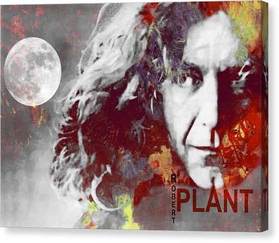 Robert Plant Canvas Print - Robert Plant by Steve K
