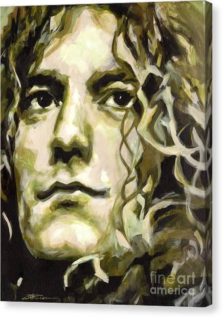 Robert Plant. Golden God Canvas Print