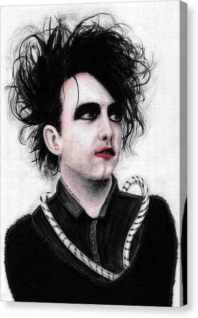 Robert Smith Music Canvas Print - Robert Smith Vi by Rouble Rust