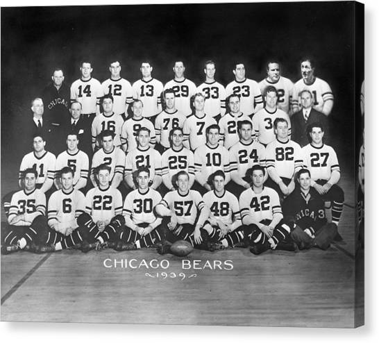 Braces Canvas Print - 1939 Chicago Bears by Retro Images Archive