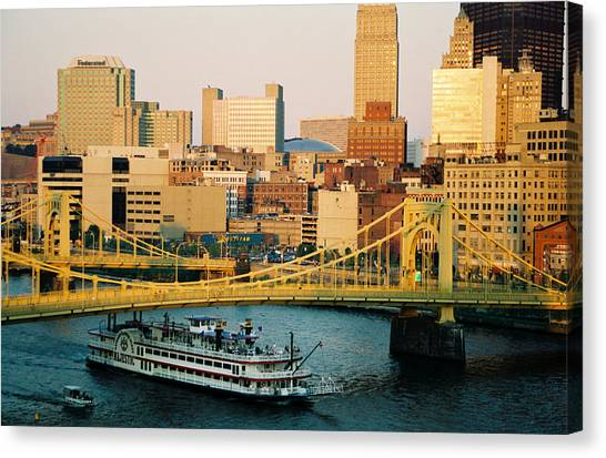 Carnegie Mellon University Canvas Print - Roberto Clemente Bridge by Sandy Fraser