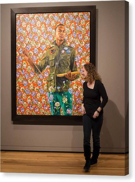 Robin And Anthony Of Padua By Kehinde Wiley  Canvas Print