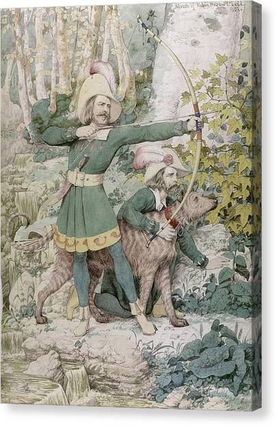 Sherwood Forest Canvas Print - Robin Hood by Richard Dadd