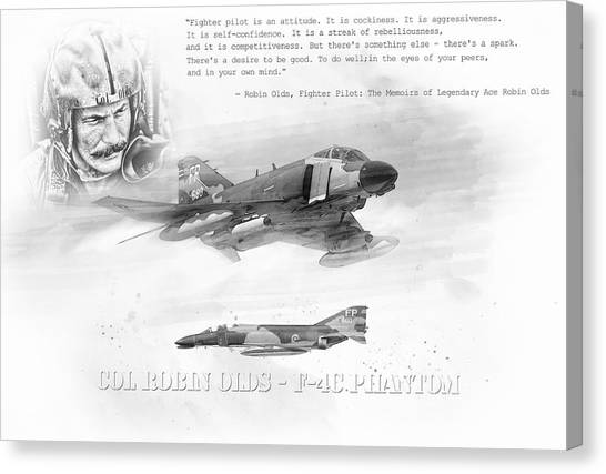 Robin Canvas Print - Robin Olds by Peter Chilelli