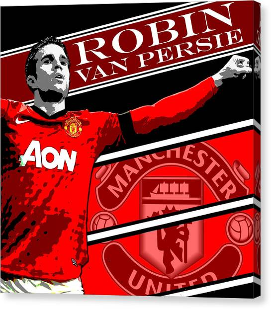 Soccer Leagues Canvas Print - Robin Van Persie Manchester United Print by Pro Prints