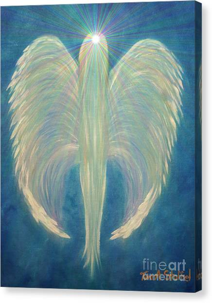Tina A Stoffel Canvas Print - Robins Angel by Tina Stoffel