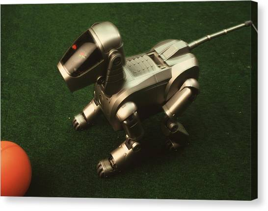 Carnegie Mellon University Canvas Print - Robot Dog by Peter Menzel/science Photo Library