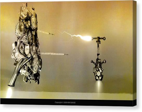 Robot Wars Canvas Print