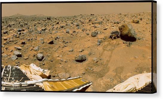 Yogi Canvas Print - Robotic Vehicle On Mars by Nasa/science Photo Library