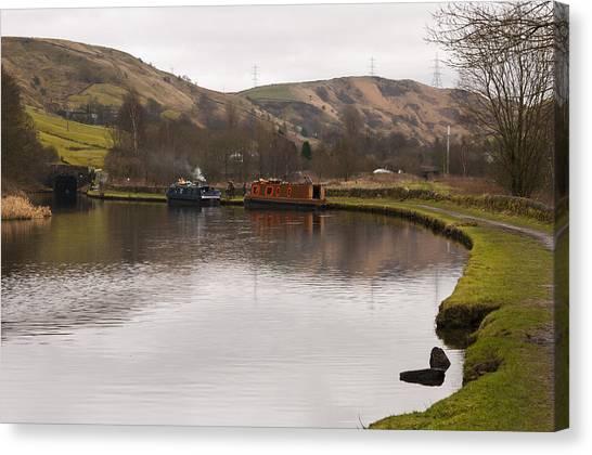 Rochdale Canal Near Walsden Canvas Print