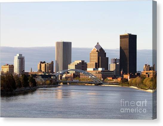 Rochester New York Skyline Canvas Print
