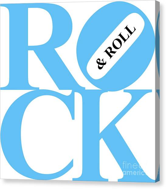 Rock And Roll 20130708 Blue White Black Canvas Print by Wingsdomain Art and Photography