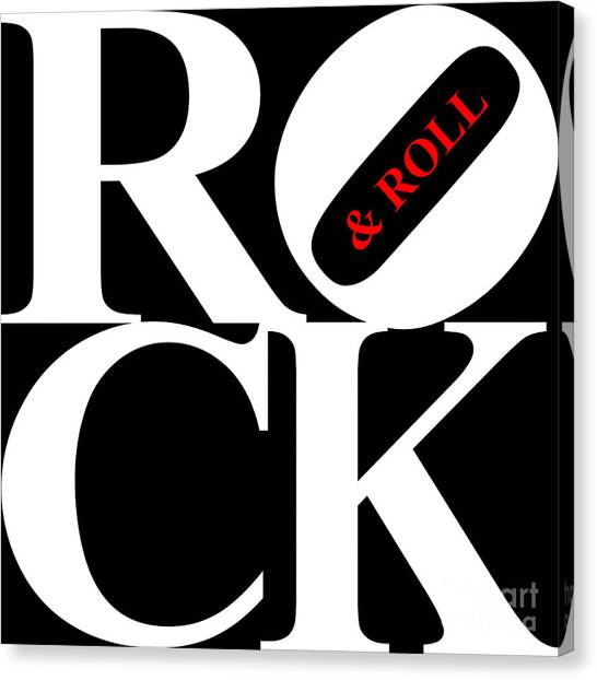 Rock And Roll 20130708 White Black Red Canvas Print by Wingsdomain Art and Photography